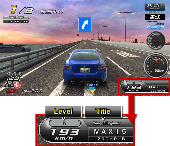 Level and Title|WANGAN MIDNIGHT MAXIMUM TUNE 5DX