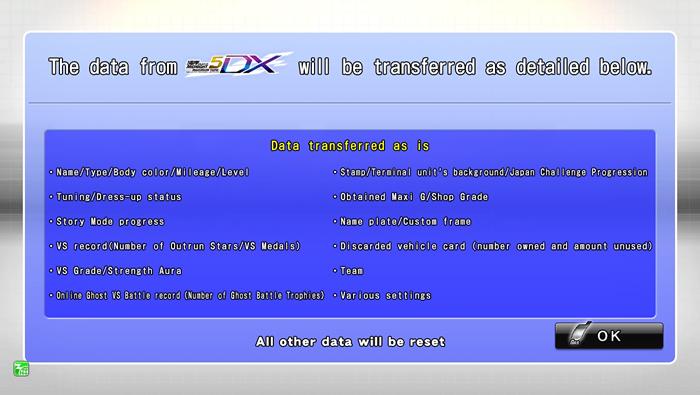 Transferring Car Data|WANGAN MIDNIGHT MAXIMUM TUNE 5DX PLUS